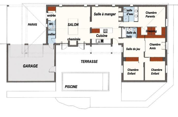 Modele maison architecte moderne mc immo for Modele maison architecte moderne