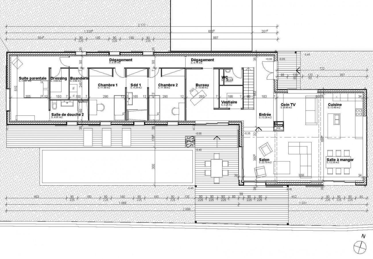 plan maison d architecte contemporaine ventana blog. Black Bedroom Furniture Sets. Home Design Ideas