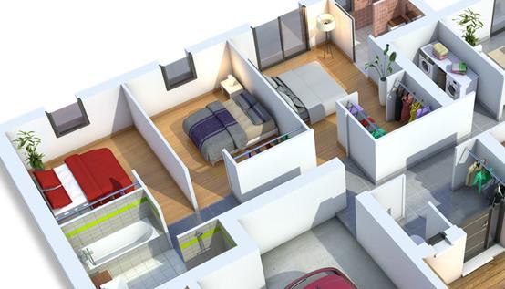 Modele de maison moderne interieur mc immo - Modele interieur maison moderne ...