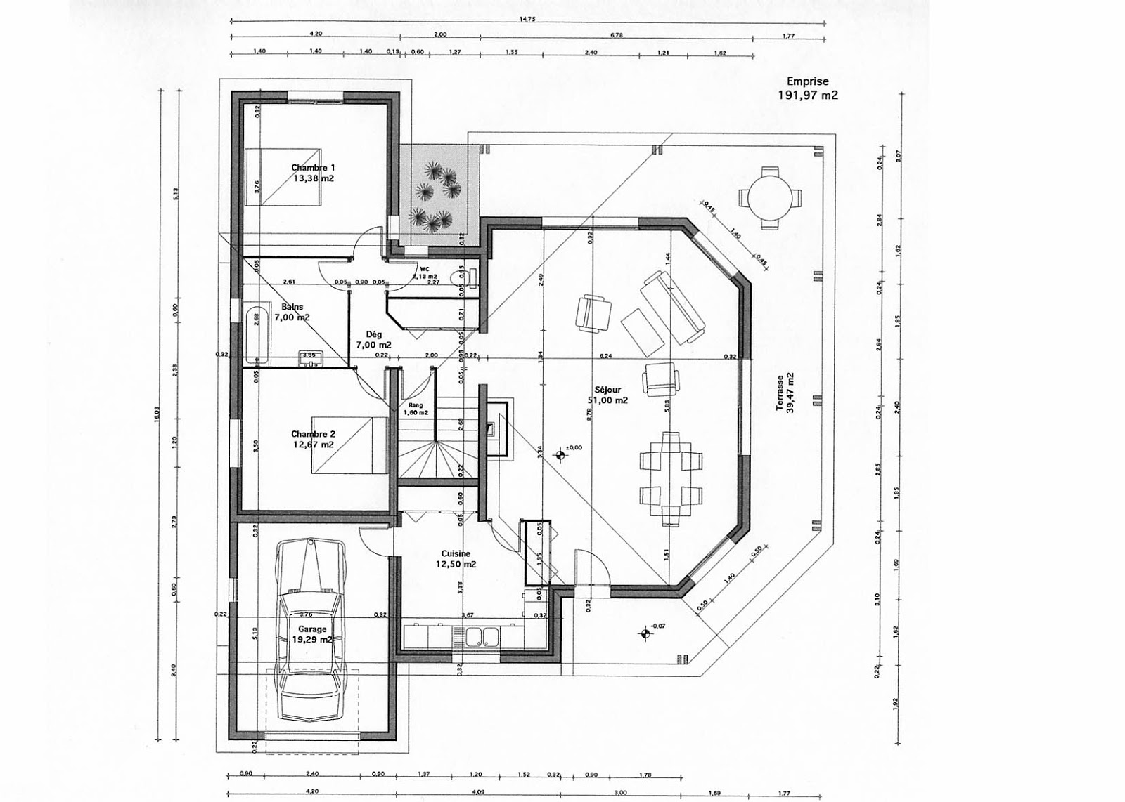 Plan de maison moderne gratuit mc immo for Plan maison contemporaine a etage