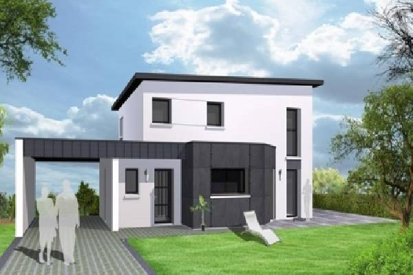 Maison ossature bois moderne prix mc immo - Prix maison moderne ...