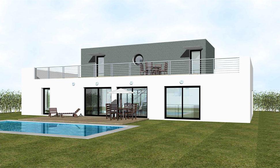 Maison Toit Plat Moderne prix maison toit plat contemporaine - mc immo