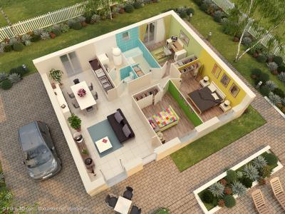 maison pierre modele paris mc immo. Black Bedroom Furniture Sets. Home Design Ideas