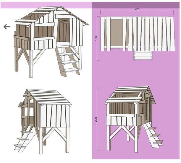 construire un lit cabane mc immo. Black Bedroom Furniture Sets. Home Design Ideas