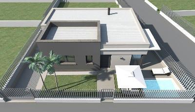 Petite villa moderne mc immo for Petite villa moderne