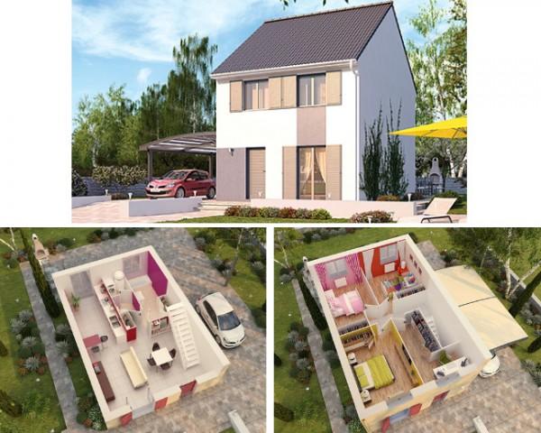 maison pierre modele orleans mc immo. Black Bedroom Furniture Sets. Home Design Ideas