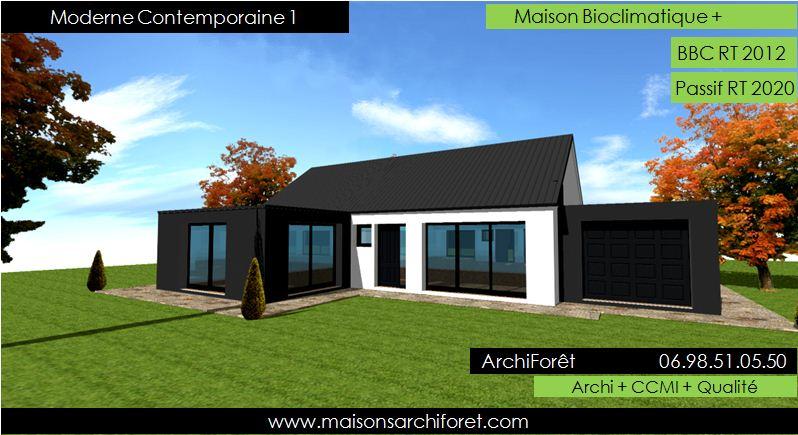 maison cube plein pied moderne mc immo. Black Bedroom Furniture Sets. Home Design Ideas