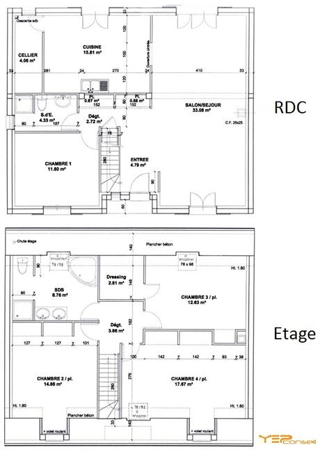 Plan de maison individuelle mc immo for Planning construction maison individuelle