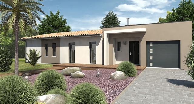 Plan maison plain pied moderne toit plat mc immo - Modeles de maisons a construire ...
