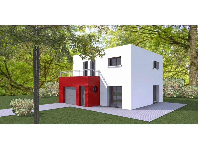 Plan maison cubique 4 chambres mc immo for Maison moderne home sweet home