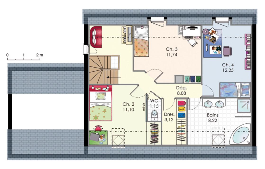 Plan De Maison A Etage Moderne Mc Immo - Plan de maison a etage moderne