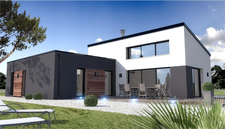 Maison individuelle contemporaine mc immo for Constructeur de maison individuelle en vendee