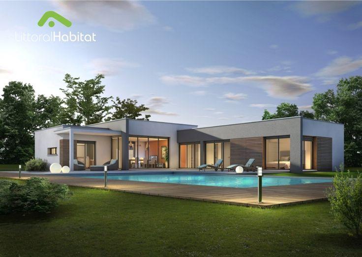 Modele de maison moderne toit plat mc immo for Enduit exterieur maison contemporaine