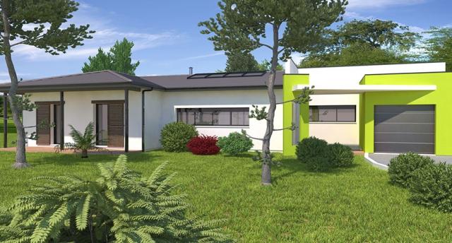 Modèle villa basse moderne