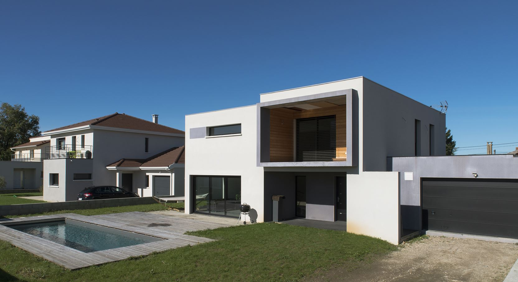 Maison architecte contemporaine mc immo for Plan architecte villa moderne