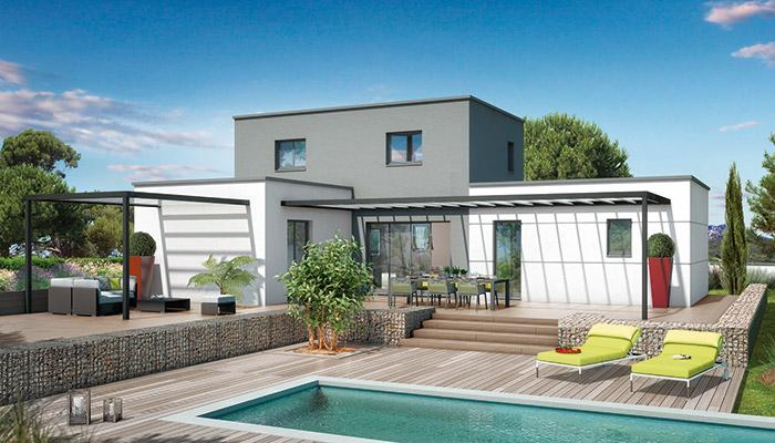 plan maison ultra moderne mc immo. Black Bedroom Furniture Sets. Home Design Ideas