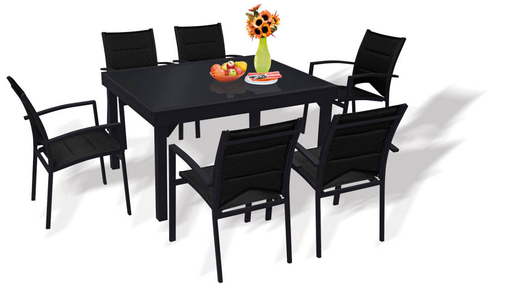 table de salon de jardin avec rallonge mc immo. Black Bedroom Furniture Sets. Home Design Ideas