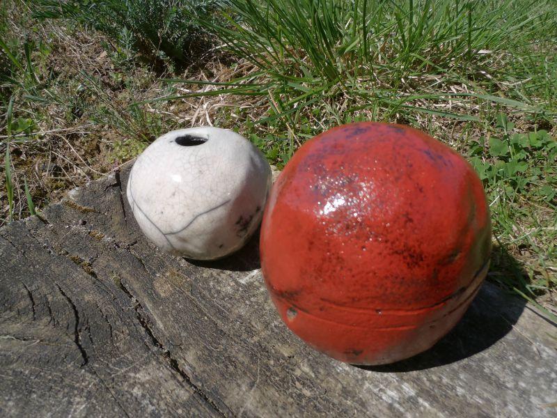 Boule ceramique decoration jardin mc immo - Boule decorative pour jardin ...