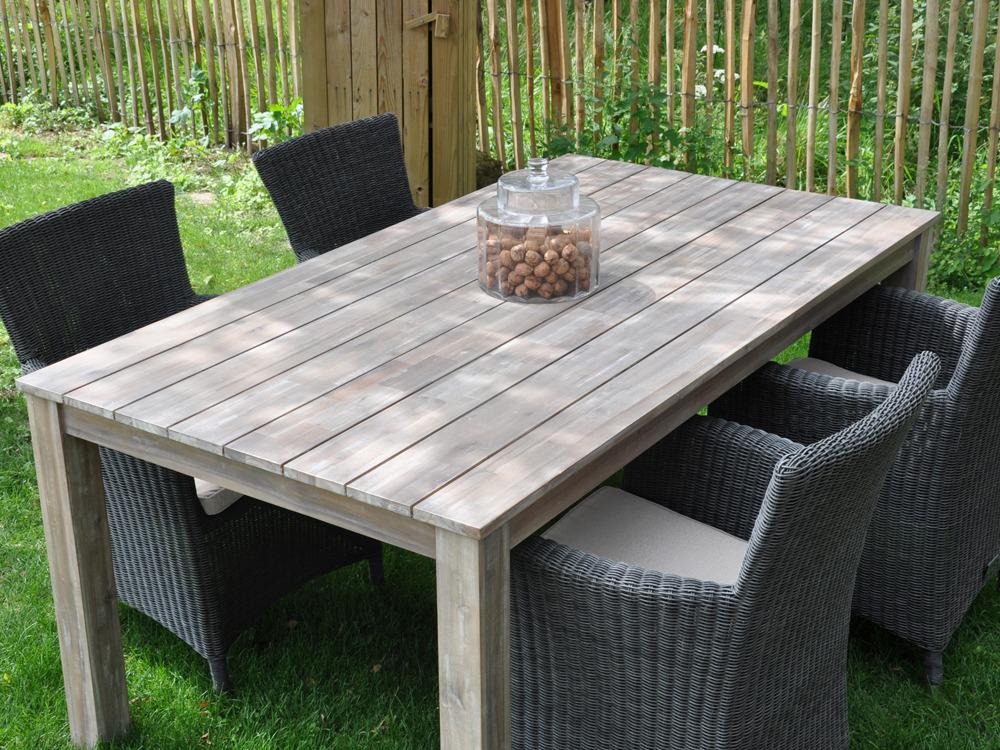 Table en bois de jardin mc immo