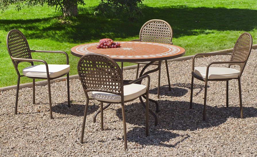 salon jardin table ronde - Salon De Jardin Table Ronde