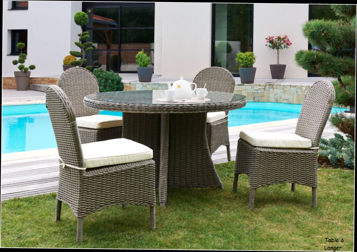 table de jardin avec rallonge en resine mc immo. Black Bedroom Furniture Sets. Home Design Ideas