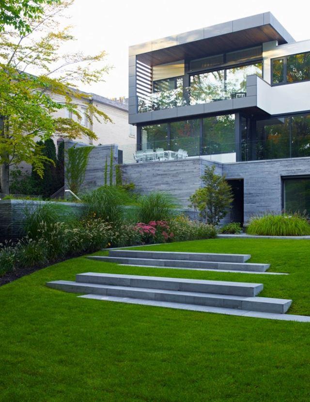 Decoration jardin maison moderne - Mc immo