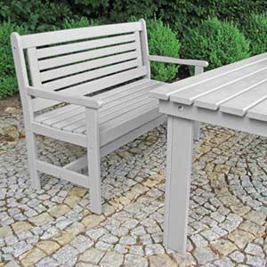 Salon de jardin bois gris - Mc immo