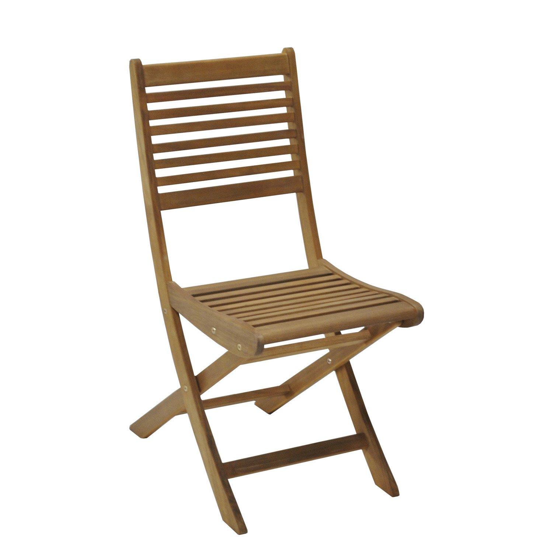Chaise De Jardin En Bois Mc Immo