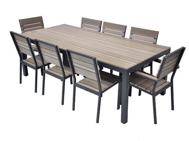 table de jardin en aluminium pas cher mc immo. Black Bedroom Furniture Sets. Home Design Ideas
